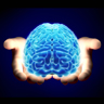 brain being held in hands