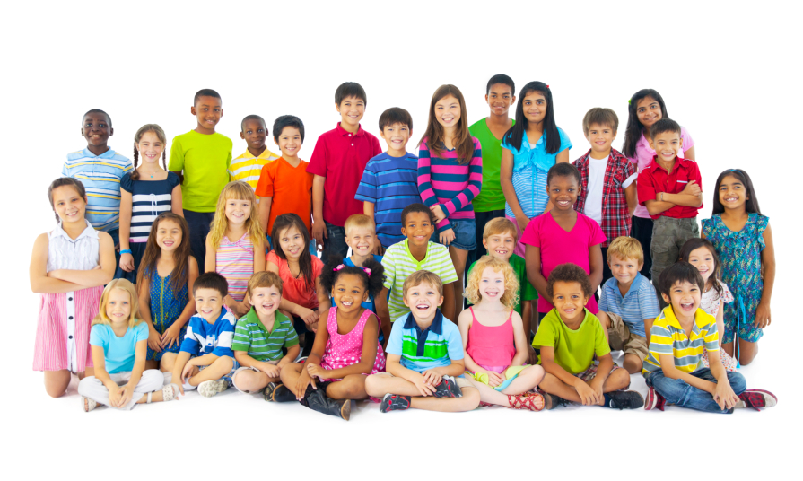 Stock image of a group of children