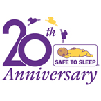 Safe to Sleep 20th Anniversary logo