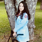 Kristal Nemeroff in her nurses' uniform
