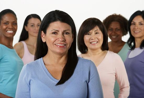 Stock image of women.