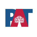 The Placental Atlas Tool logo has the letters PAT with a placenta graphic stylized like a tree in the center of the letter A.