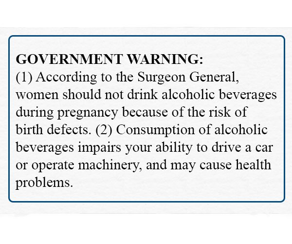 Government warning label.