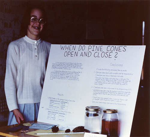 Dr. Storz as a child at a science fair.