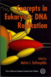 Cover of Concepts in Eukaryotic DNA Replication publication.