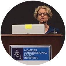 Dr. Bianchi presenting at the Women's Congressional Policy Institute