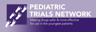 Logo for the Pediatric Trials Network: Making drugs safer and more effective for use in the youngest patients.