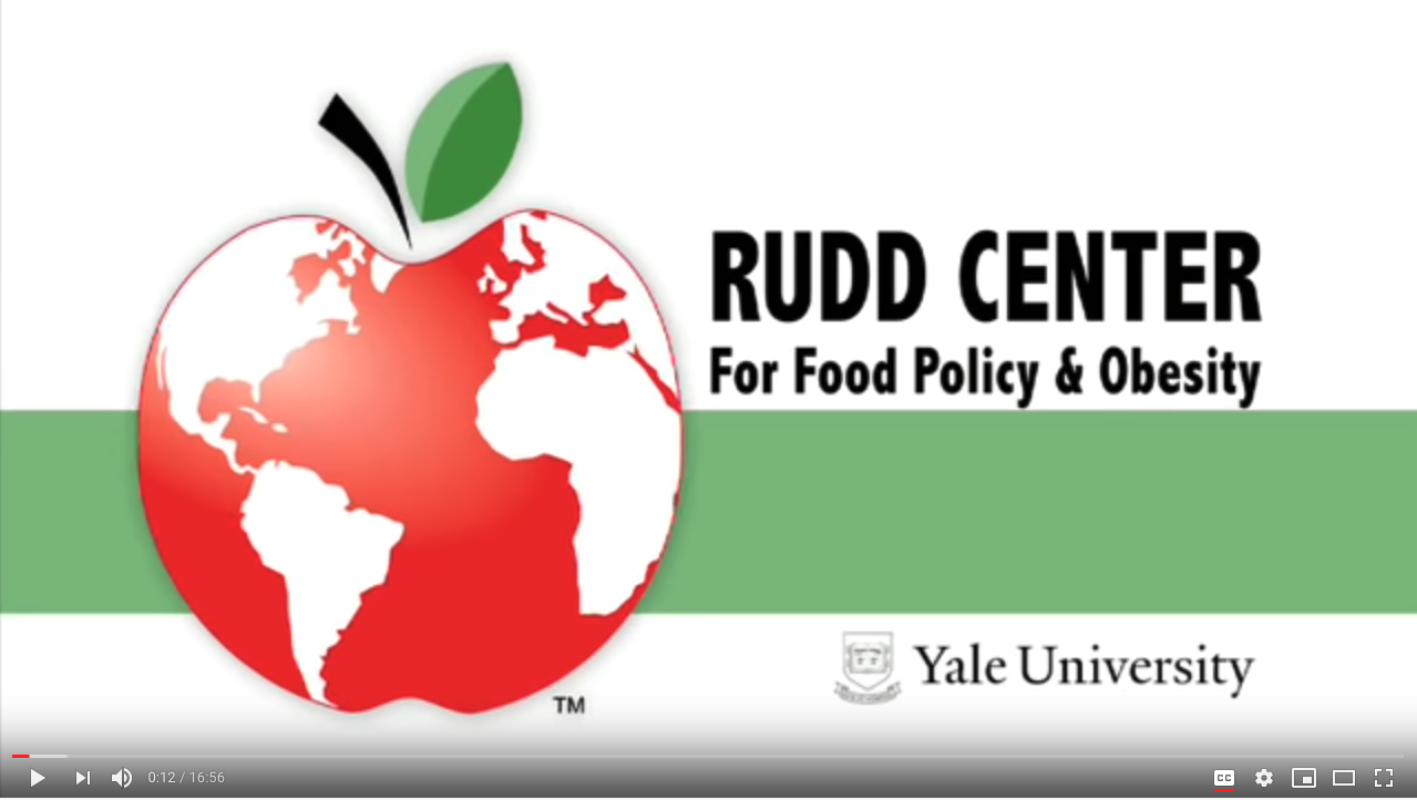 A globe in the shape of an apple. Rudd Center for Food Policy and Obesity, Yale University.