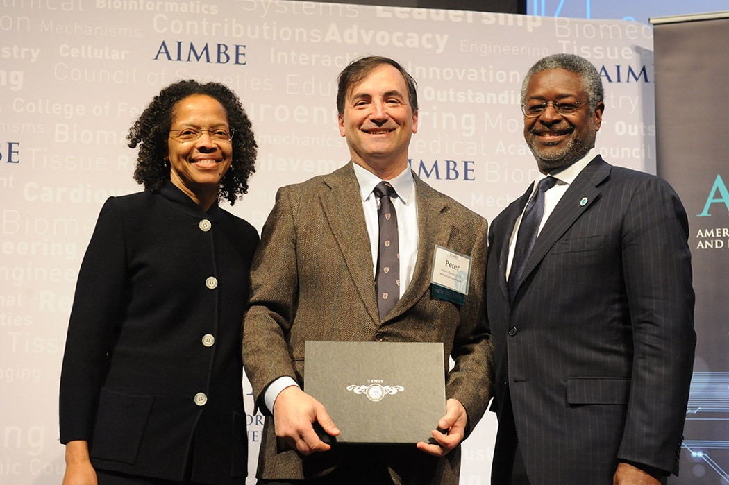 Dr. Basser accepting his AIMBE award.