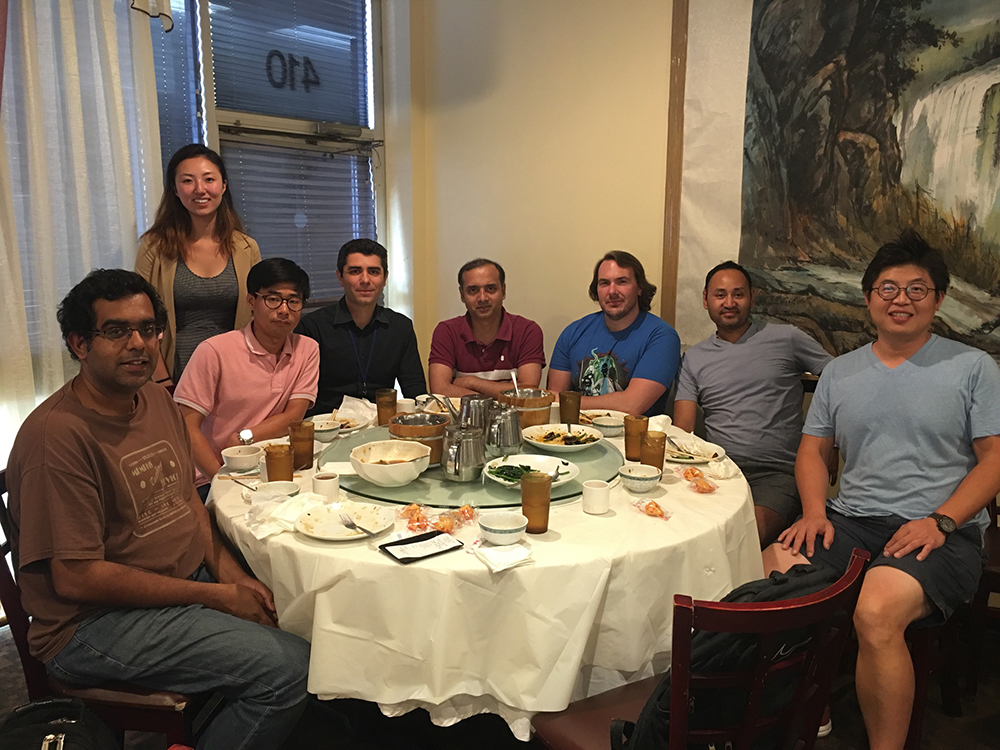Banerjee Lab - group lunch at Sichuan Jin River, September 2017