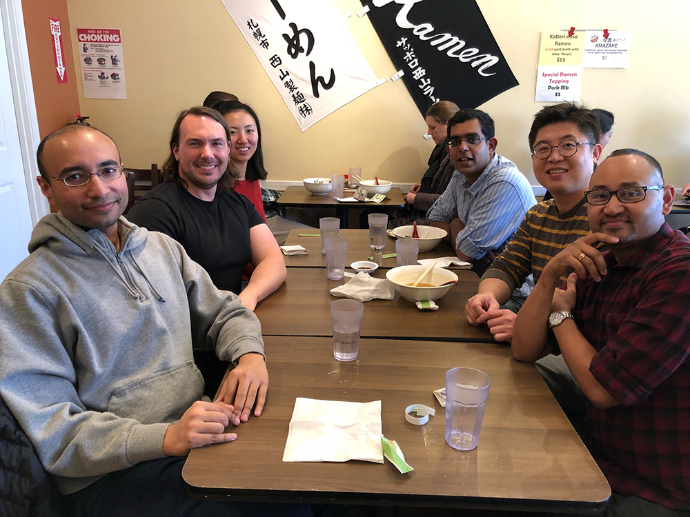 Banerjee Lab - group lunch at Ren's Ramen, January 2018