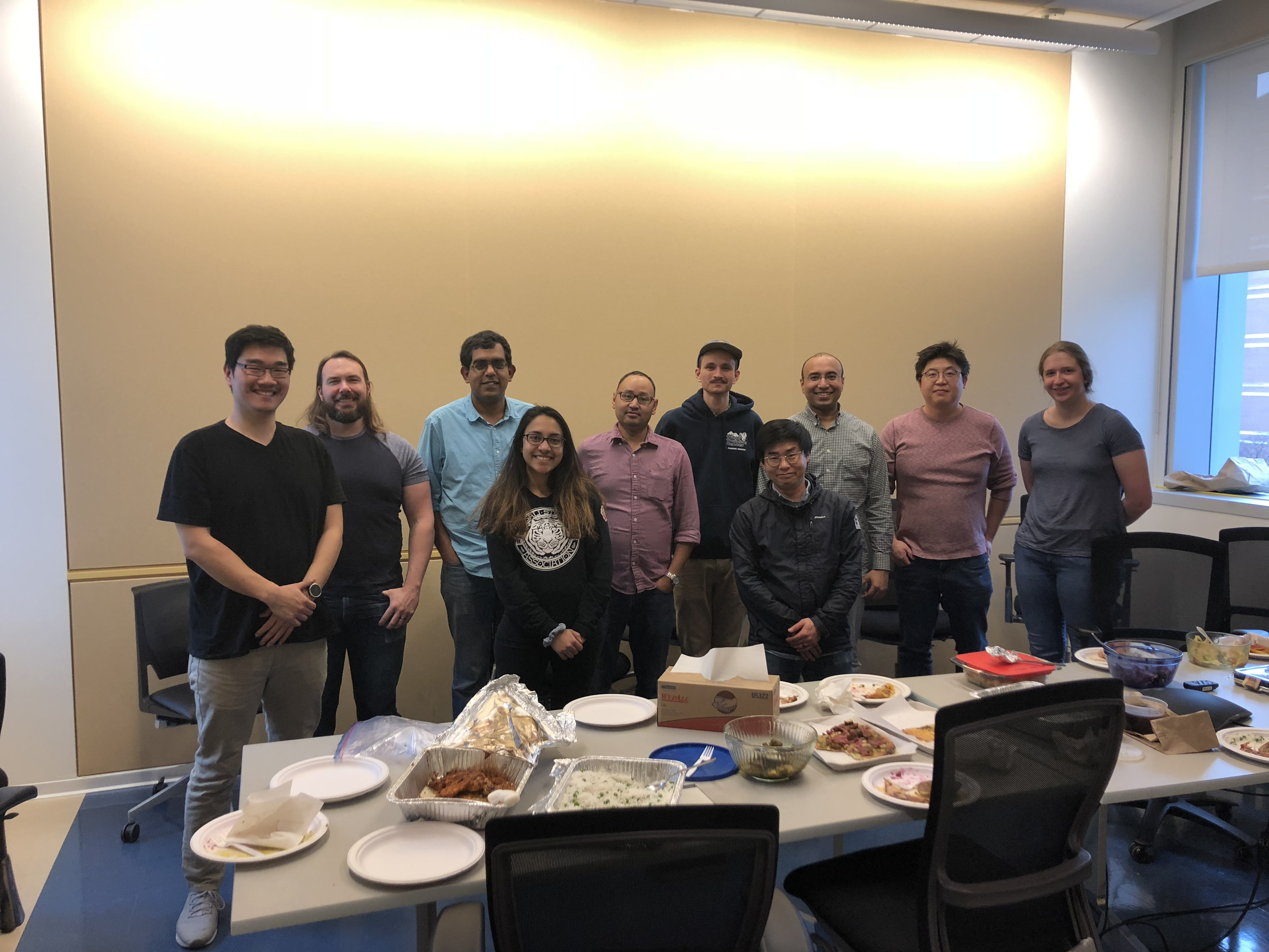 Banerjee Lab - Mitra's farewell lunch, February 2019
