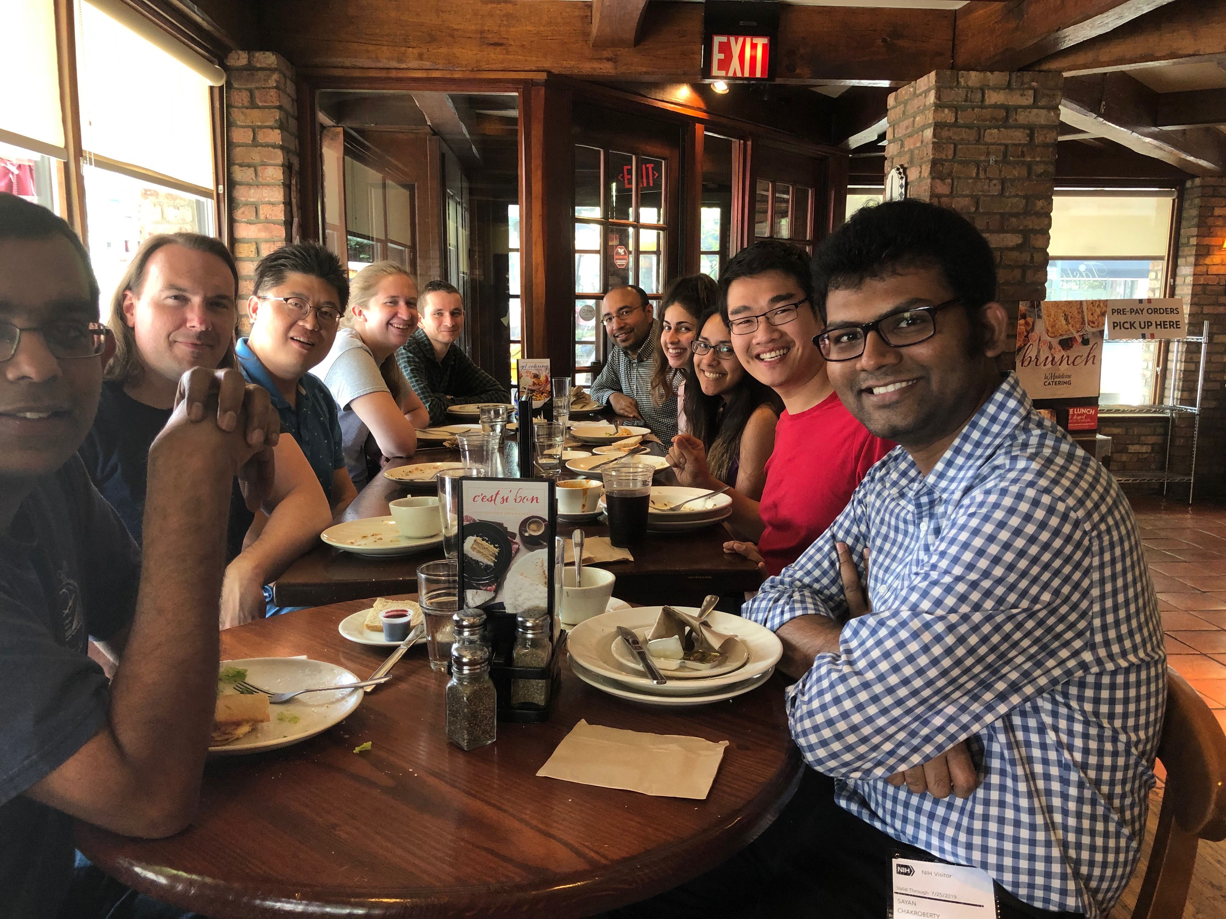 Banerjee Lab - Priyanka's farewell lunch, August, 2019