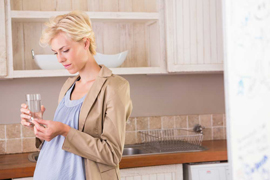 a pregnant woman taking medication