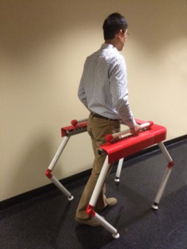 Person moving with a robotic walker