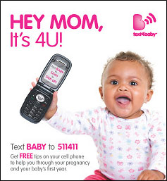 text4baby Flyer