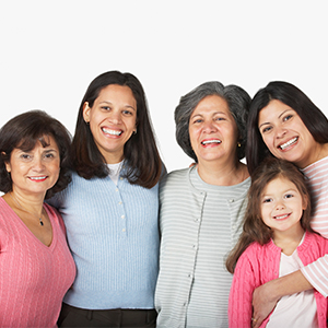 Group of women from different generations