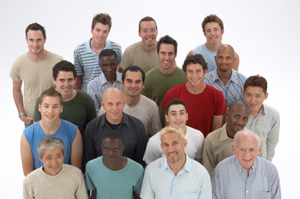 Diverse group of men